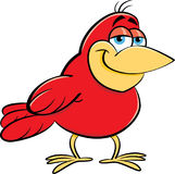 Cartoon smiling bird. Royalty Free Stock Images