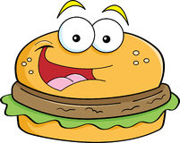 Cartoon hamburger Royalty Free Stock Image