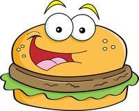 Cartoon hamburger. Cartoon illustration of a smiling hamburger Royalty Free Stock Image