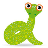 Cartoon illustration of a snake on a white background. Stock Image