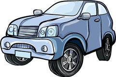 Cartoon illustration of a sport utility vehicle Royalty Free Stock Image