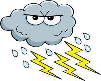 Cartoon storm cloud royalty free illustration