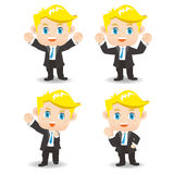 Cartoon illustration Success Business man Stock Photography