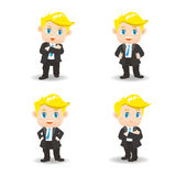 Cartoon illustration Success Business man Royalty Free Stock Photos