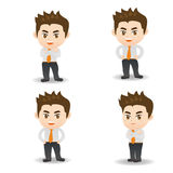 Cartoon illustration Success Business man Stock Photo