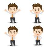 Cartoon illustration Success Business man Stock Image