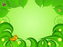 Cartoon illustration of summer background Royalty Free Stock Images