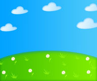 Cartoon illustration of summer background Stock Images