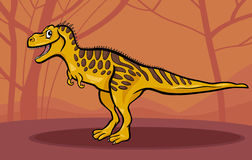Cartoon illustration of tarbosaurus dinosaur Royalty Free Stock Image