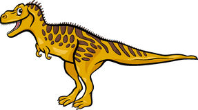 Cartoon illustration of tarbosaurus dinosaur Royalty Free Stock Images