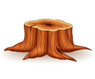 Cartoon illustration of tree stump Royalty Free Stock Images