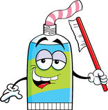Cartoon tube of toothpaste Stock Photo