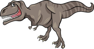 Cartoon illustration of tyrannosaurus dinosaur Stock Images