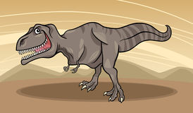 Cartoon illustration of tyrannosaurus dinosaur Royalty Free Stock Image