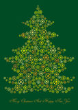 Cartoon illustration of winter christmas tree Royalty Free Stock Image