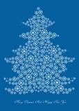 Cartoon illustration of winter christmas tree Stock Images