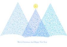 Cartoon illustration of winter christmas tree Royalty Free Stock Images