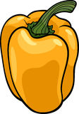 Yellow pepper vegetable cartoon illustration Royalty Free Stock Photos
