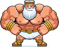 Cartoon Zeus Confident vector illustration