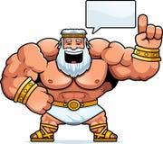 Cartoon Zeus Talking. A cartoon illustration of Zeus talking Stock Images