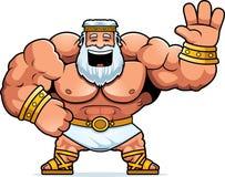 Cartoon Zeus Waving. A cartoon illustration of Zeus waving Royalty Free Stock Photography
