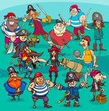 Cartoon pirate characters group Royalty Free Stock Photo