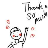 Cartoon illustrations vector thanks. Cartoon illustrations vector thank u stock illustration