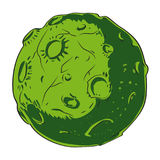 Cartoon image of alien planet Royalty Free Stock Photography