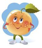 Cartoon image of an apple Stock Photos