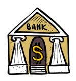 Cartoon image of Bank Icon. Government symbol Stock Photo