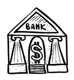 Cartoon image of Bank Icon. Government symbol Stock Photography