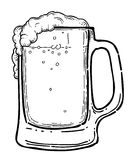 Cartoon image of beer in glass Royalty Free Stock Image