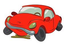 Cartoon image of broken down car cartoon royalty free illustration