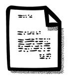 Cartoon image of Checklist Icon. Clipboard symbol Stock Images