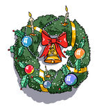Cartoon image of christmas decoration Royalty Free Stock Photo
