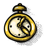 Cartoon image of Clock Icon. Time symbol Stock Photography