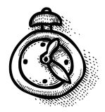 Cartoon image of Clock Icon. Time symbol Royalty Free Stock Photography