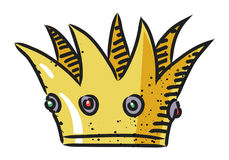 Cartoon image of Crown Icon. Crown symbol. An artistic freehand picture Royalty Free Stock Photos