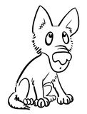 Cartoon image of dog. An artistic freehand picture Stock Photo