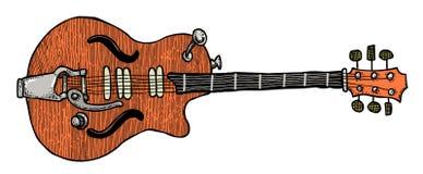 Cartoon image of electric guitar Stock Photography