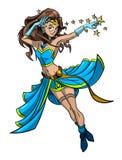 Cartoon image of female magician Stock Photos