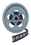 Cartoon image of Film reel. An artistic freehand picture Stock Photo