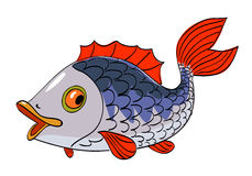 Cartoon image of fish. An artistic freehand picture Royalty Free Stock Photography