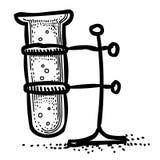 Cartoon image of Flask Icon. Laboratory symbol Royalty Free Stock Photos
