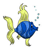 Cartoon image of funny fish. An artistic freehand picture Stock Photography
