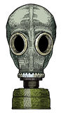 Cartoon image of gas mask. An artistic freehand picture Royalty Free Stock Image