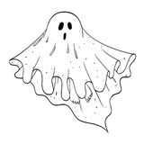 Cartoon image of ghost Royalty Free Stock Image