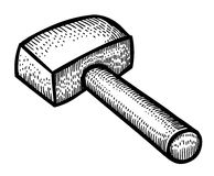 Cartoon image of hammer Royalty Free Stock Image
