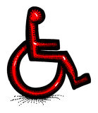 Cartoon image of Handicap Icon. Accessibility symbol. An artistic freehand picture Stock Photography