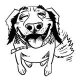 Cartoon image of happy dog Stock Photos